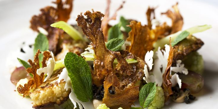 One of Lee Westcott's signature dishes, this recipe presents a plethora of delights, from yeasted cauliflower purée to piquant homemade raisins.