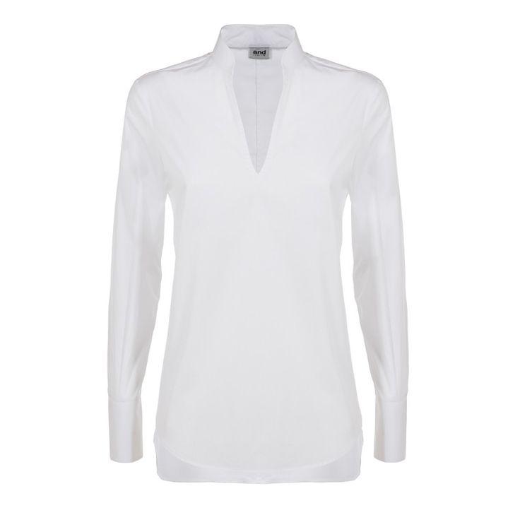 woman blouse mandarin collar with V neck