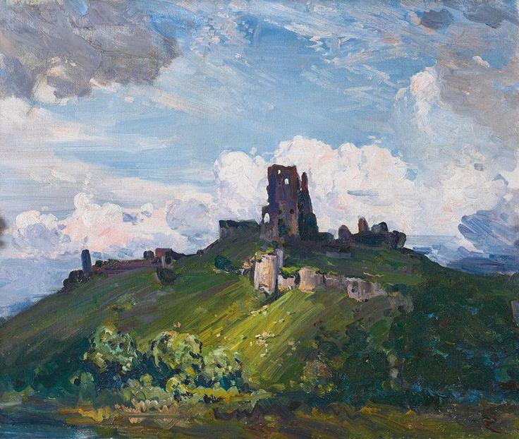 Corfe Castle 1909 by Arthur Streeton - I've been here