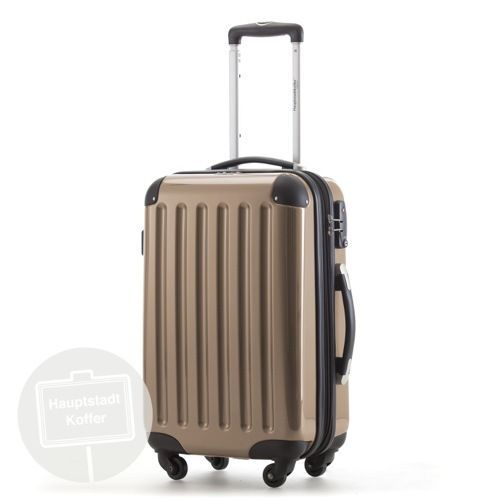 Hauptstadtkoffer Hard Plastic Hand Luggage Suitcase Trolley Champagne PC/ABS TSA