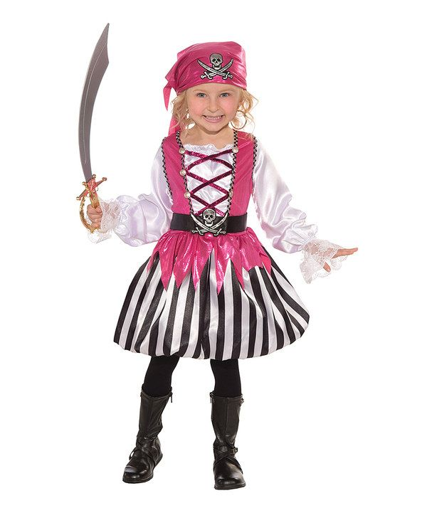 Take a look at this Forum Novelties Black & Pink Blushing Buccaneer Dress-Up Set - Toddler & Girls on zulily today!