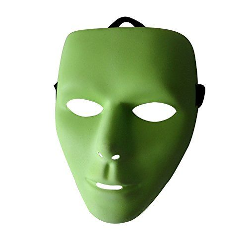 Whole Face Plastic Plain Hip-hop Mask Costume Party Dance Glow in the Dark Mask @ niftywarehouse.com #NiftyWarehouse #Halloween #Scary #Fun #Ideas