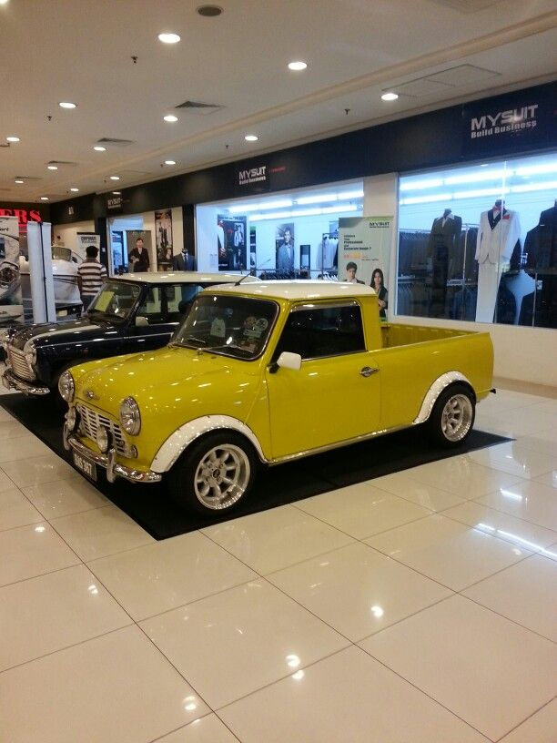 Mini Cooper pickup. WANT! THIS WOULD BE COOL TO HAVE A PICKUP COOPER TOO.