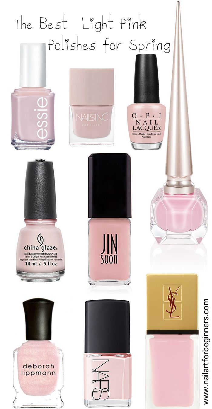 light pink nail polish