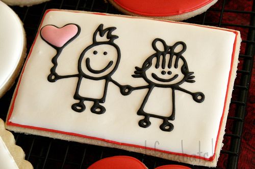 Valentine Cookies.