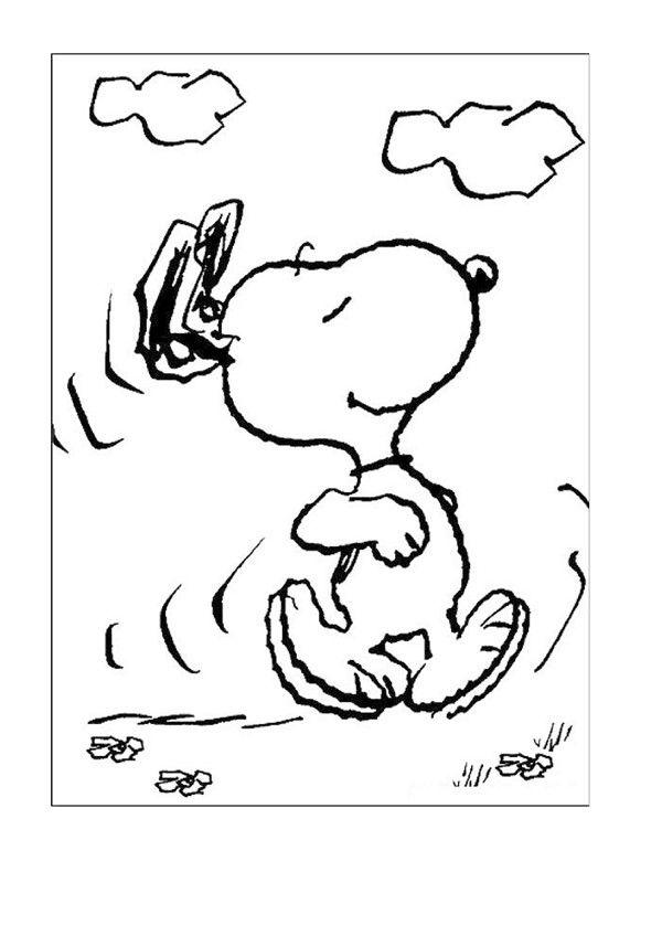 desenhos infantis para colorir do snoopy  páginas para