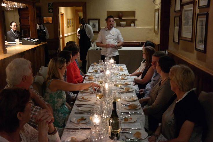 Lanzerac fans enjoying the Winemaker & Chef's Dinner in Die Taphuis