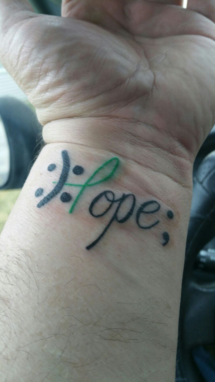 Bipolar suicide support tattoo
