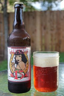 Lagunitas Lucky 13 (originally brewed for there 13th anniversary) is an 8.65 ABV 77 IBU American / Amber red.  The appearance is an unassuming orange, but the nose immediately hits you with candied sugar, big malts and citrus hop.  The flavor profile is really complex, with the malts and sugar up front, finishing with a dry bitter hop.  The mouthfeel is medium heavy and the carbonation spot on.  Lagunitas continues to be a top tier brewery.