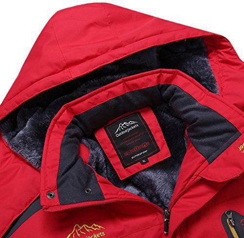 Sawadikaa Anorak Veste de Sport Coupe Vent Imperméable Veste Polaire Veste de Ski Randonnée Manteau Femme Rouge Large: Tweet Veste de neige…