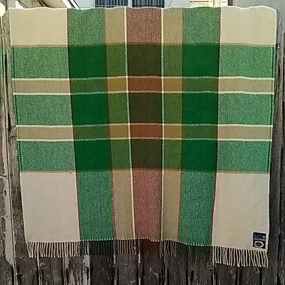 Vintage Berger of Norway Fringed Throw // Berger by DigDatVintage
