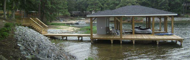 boathouse pier | ... AA Pile Driving - Boathouse & Pier Construction on Lake Gaston NC & VA