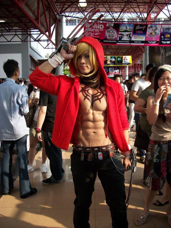A Filipino Cosplayer As Gunjin From Togainu No Chi