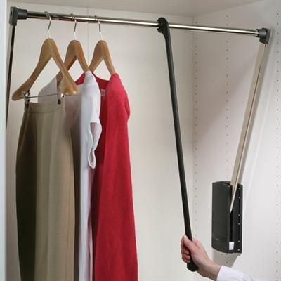 Pull down wardrobe rail