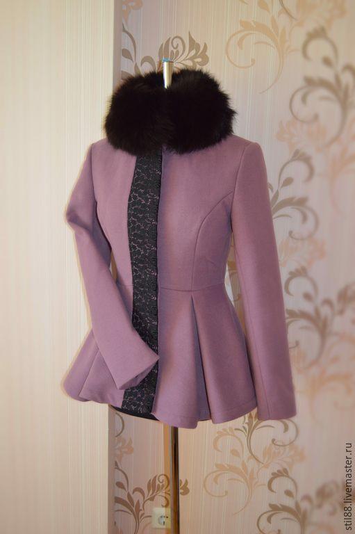 """Купить Пальто """"Баска"""" - брусничный, однотонный, пальто, пальто женское, пальто демисезонное"""