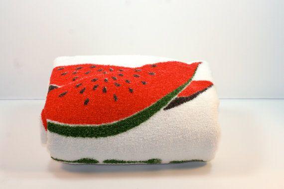 Vintage Mid-Century Picnic Blanket,  Picnic Towel, Beach Towel - California Hand Prints on Etsy, $30.00