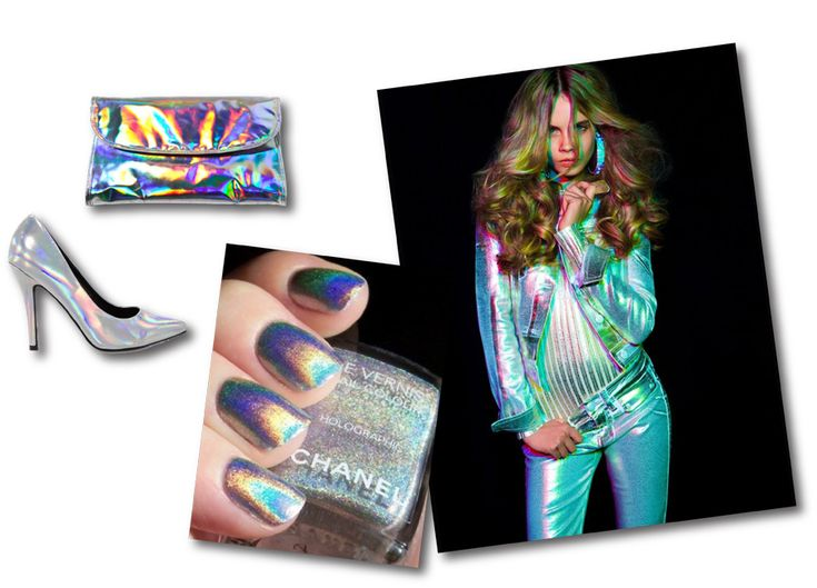 Holographic nails and shoes