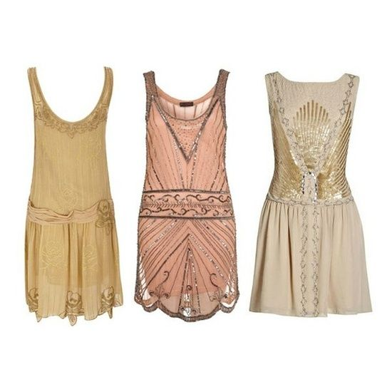 I have too many curves to pull off dresses like these 1920s flapper party dresses, but they sure are cute.
