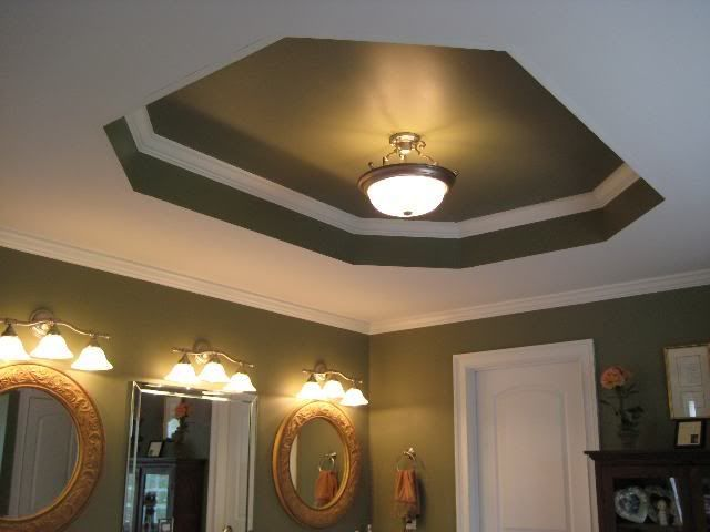 How to paint tray ceilings with color? - Home Decorating & Design Forum - GardenWeb