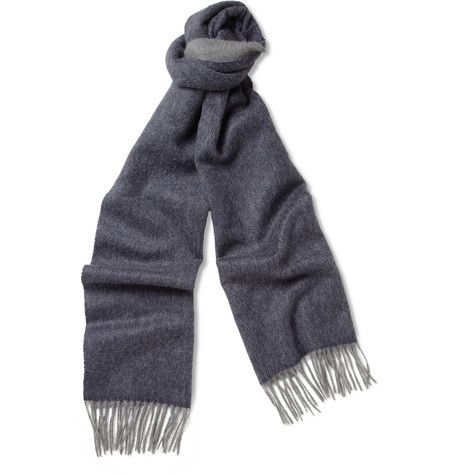Lanvin Double-Faced Brushed Cashmere Scarf | MR PORTER