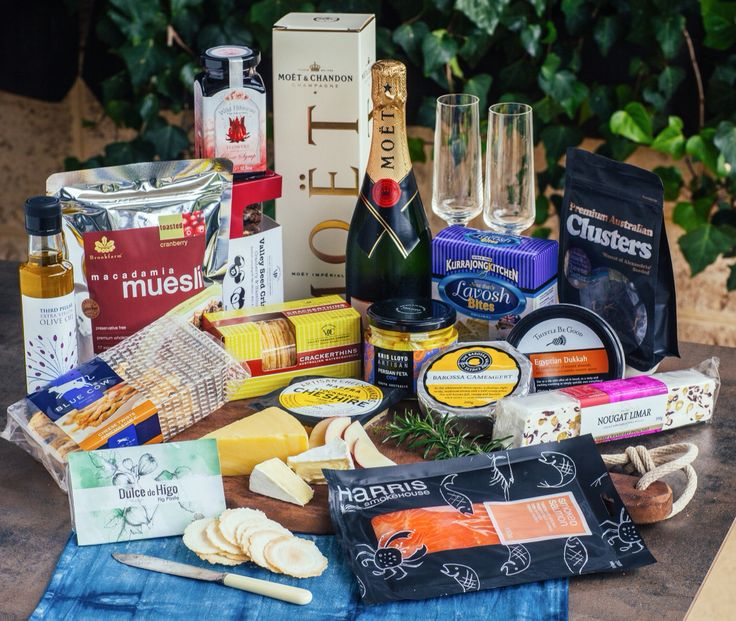 Celebration Hamper - The ultimate special occasion hamper. Pop a bottle of Moët & Chandon champagne to compliment a premium selection of cheese, luxury crispbreads, smoked ocean trout & a selection of sweet & savoury surprises beautifully presented in your choice of gift baskets.  Price $250.00  Delivery $25.00