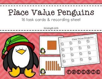Place Value Penguins FREEBIE