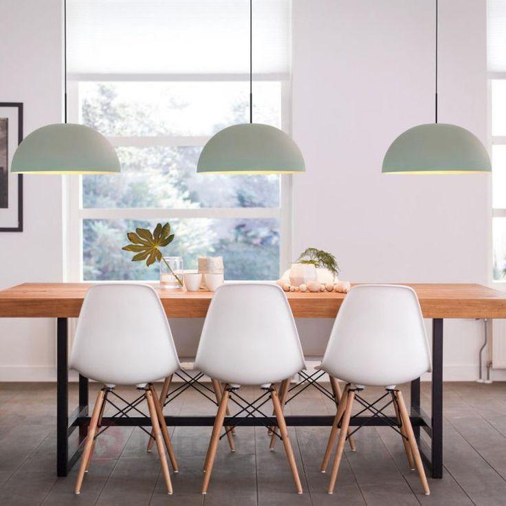 Hellgrüne LED-Hängelampe Rye aus Metall kaufen