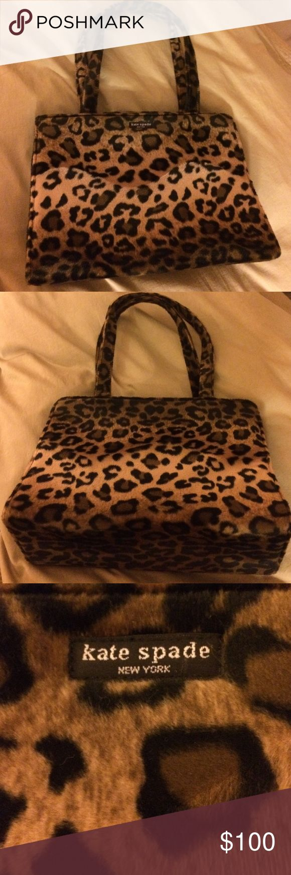 Cute Kate Spade animal print furry bag! Cute animal Kate Spade print bag! kate spade Bags