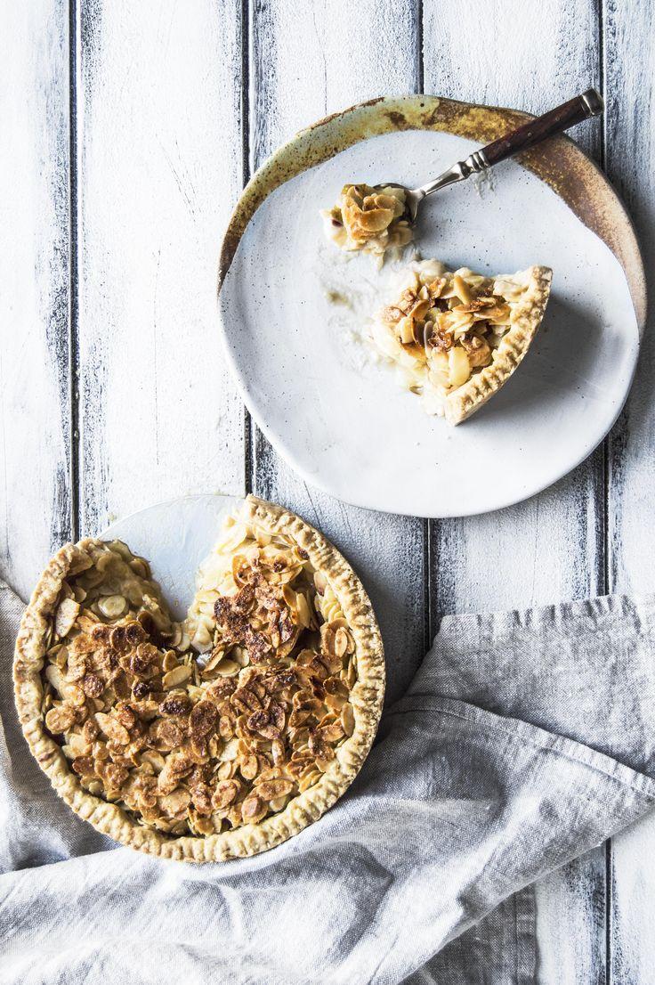 My Vibrant Kitchen   Vegan Pear Custard Pie With Caramelized Almond Crust   http://myvibrantkitchen.com