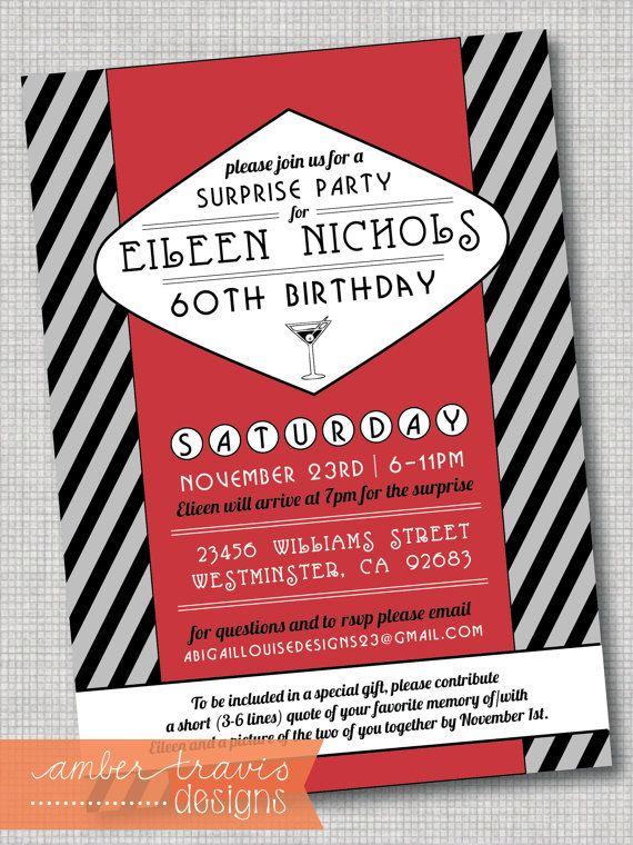 1000 ideas about Rat Pack Party – Packs of Party Invitations