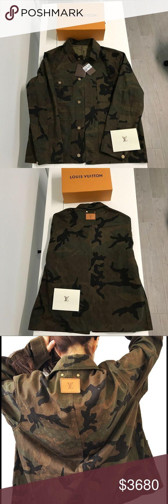 SUPREME LOUIS VUITTON CAMO DENIM JACKET SIZE 52 BRAND NEW WITH TAGS SUPREME LOUIS VUITTON LONG CAMO DENIM JACKET SIZE 52   100% AUTHENTIC   Size L   EXTREMELY RARE AND SOLD OUT Louis Vuitton Jackets & Coats