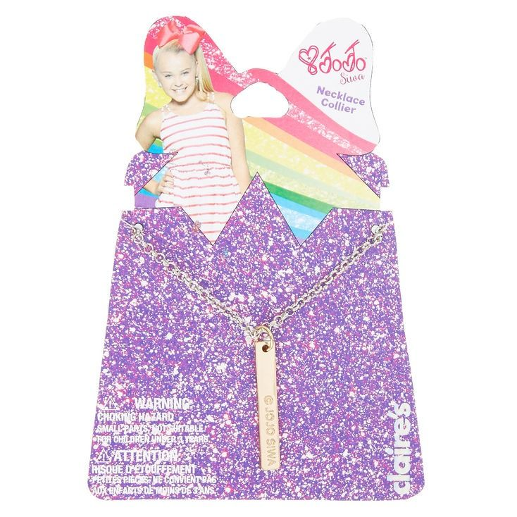 """Fan favorite! Score some extra competition points and show the world you are JoJo Siwa's Number One Fan with this adorable gold pendant message necklace from the JoJo Siwa Collection. The gold pendant is engraved with """"Be Confident"""" and the signature JoJo Siwa heart. Pendant is attached to a silver chain with a lobster clasp."""