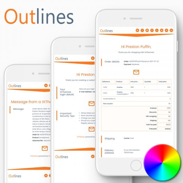 OUTLINES PrestaShop Email Templates