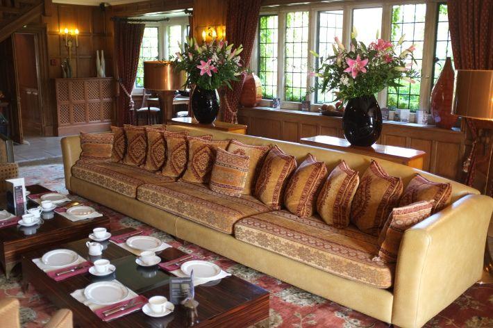 The 'living room' at Whatley Manor, Malmesbury.