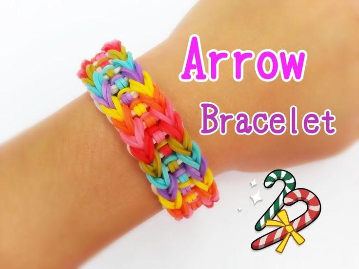 Arrow Rainbow Loom Monster Tail Bracelet Tutorial ~ How To
