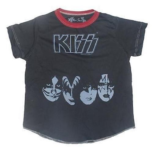 Rowdy Sprout Kiss Masks Infant Vintage Tee Shirt
