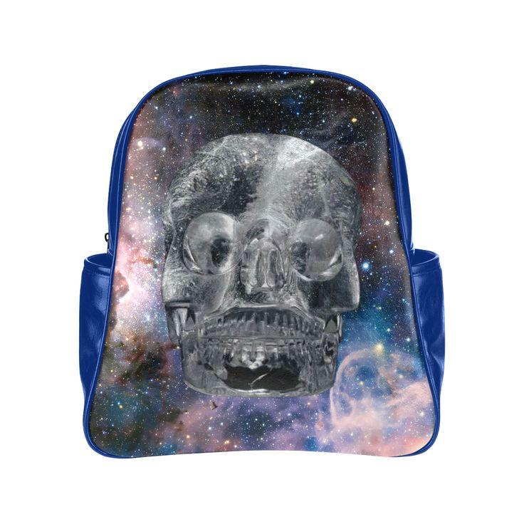 Crystall Skull Multi-Pockets Backpack. FREE Shipping. #artsadd #lbackpacks #skulls