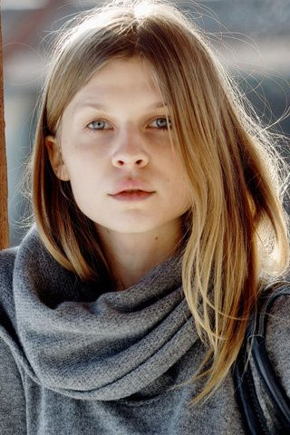Clemence Poesy without make up - beautiful.