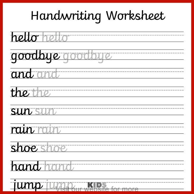 homeschool worksheet 3rd grade in 2020 Cursive