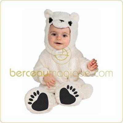 Costume mixte grenouillère Petit ours polaire - Rubie's