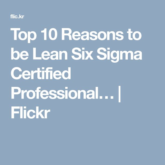 25 Best Lean Six Sigma Images On Pinterest