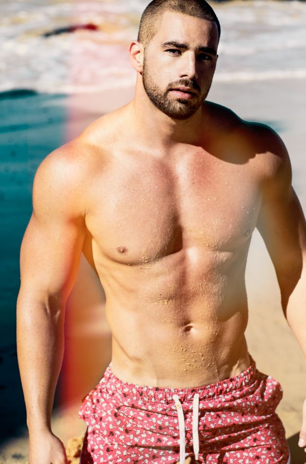 CHEERS to a three-day working week! :) Model getting washed away in teamm8 LANAI swim shorts. Image courtesy of Russell Fleming - Photographer