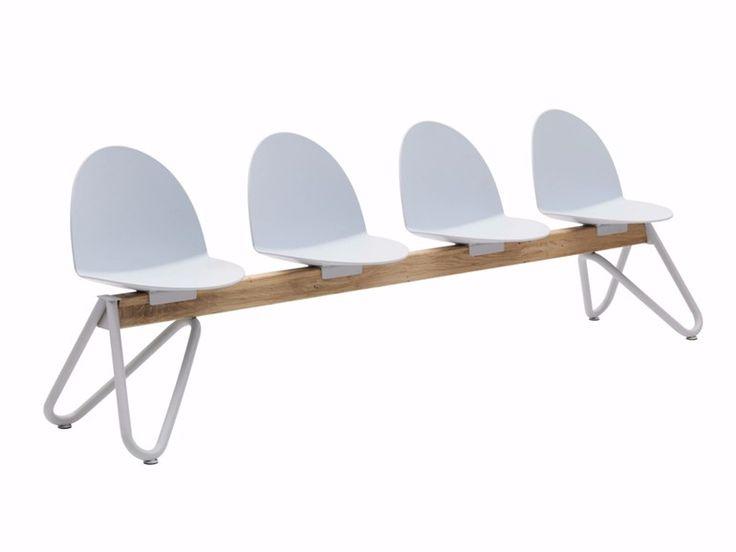 CAMEL Polypropylene beam seating by Segis design Bartoli Design