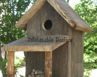 Birdhouse Rustic Birdhouse Primitive Barn by TallahatchieDesigns