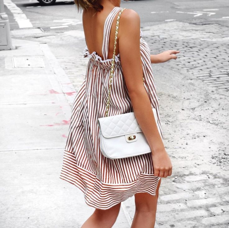 "171 Likes, 7 Comments - Katherine in Manhattan (@katherineinmanhattan) on Instagram: ""Seeing stripes  How cute is this ruffled sundress?! It's so easy and lightweight for hot summer…"""