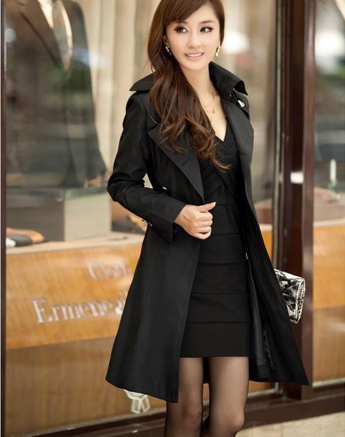 Купить Женщины пальто нагрудные отдыха ветровка куртка приталенныйи другие товары категории Тренчив магазине Golden XiaopuнаAliExpress. куртка складки и пальто девочке