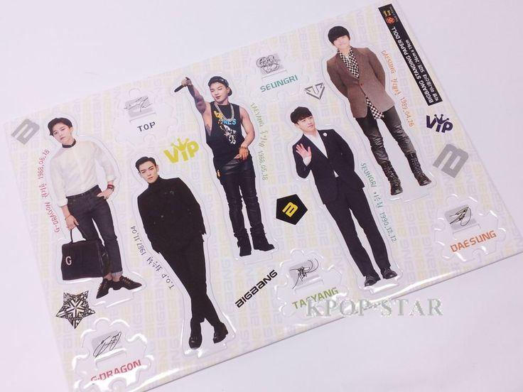 BigBang GD TOP Big Bang Standing Paper Doll Korean K Pop Star KPOP Paper Doll