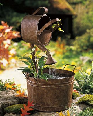 Rustic Country Outdoor Water Fountain--not avail. ...DIY?