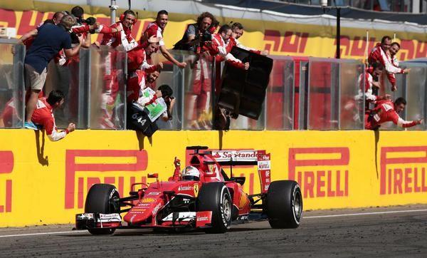 Sieg in Ungarn für Ferrari und Sebastian Vettel