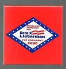 Al Gore political campaign button, Joe Lieberman - http://oddauctions.net/presidential-history/al-gore-political-campaign-button-joe-lieberman/